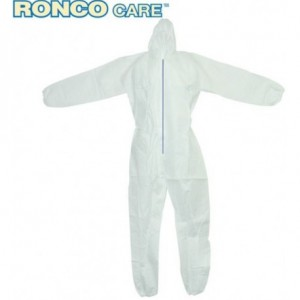 421 | CARE Polypropylene Coverall, Light-Weight, Elastic Sleeves/Ankles, Hooded, 1/BG,50/CS
