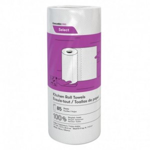 "K085 | Select Kitchen Towel Roll, 8"", 2 Ply, 85/Sheets, 11""L, White, 30 Per Case"