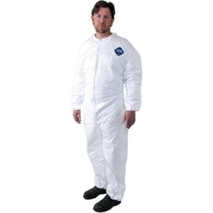 TY125SWH | Tyvek® 400 Coveralls, Collar, Elastic Wrists/Ankles, Bulk Packed, 25/CS